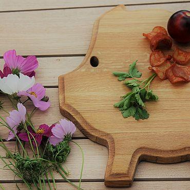 Посуда ручной работы. Ярмарка Мастеров - ручная работа Разделочная доска свинка. Handmade.