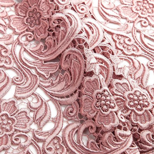 Шитье ручной работы. Ярмарка Мастеров - ручная работа. Купить Макраме Prada. Handmade. Бледно-розовый, кружево