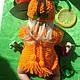 """Одежда для кукол ручной работы. """"Апельсиновое Сердце"""" одежда для кукол.. NK313. Ярмарка Мастеров. Комплект вязаный, шапка, игрушка"""