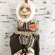 Для дома и интерьера ручной работы. Ярмарка Мастеров - ручная работа Текстильная Кукла Пакетница Дедушка Элиэзер-2. Handmade.