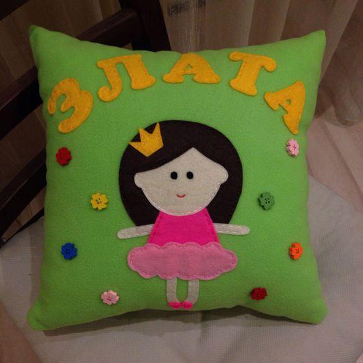 """Детская ручной работы. Ярмарка Мастеров - ручная работа. Купить Подушка """"Принцесса"""". Handmade. Подушка, подушка для девочки, идея подарка"""