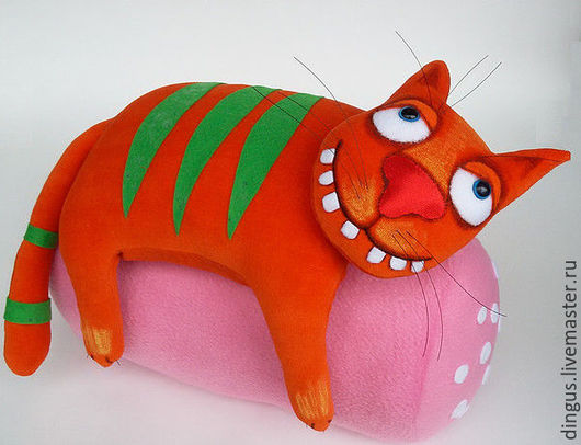 Игрушки животные, ручной работы. Ярмарка Мастеров - ручная работа. Купить Колбасный кот. Handmade. Рыжий, котик, прикольный кот