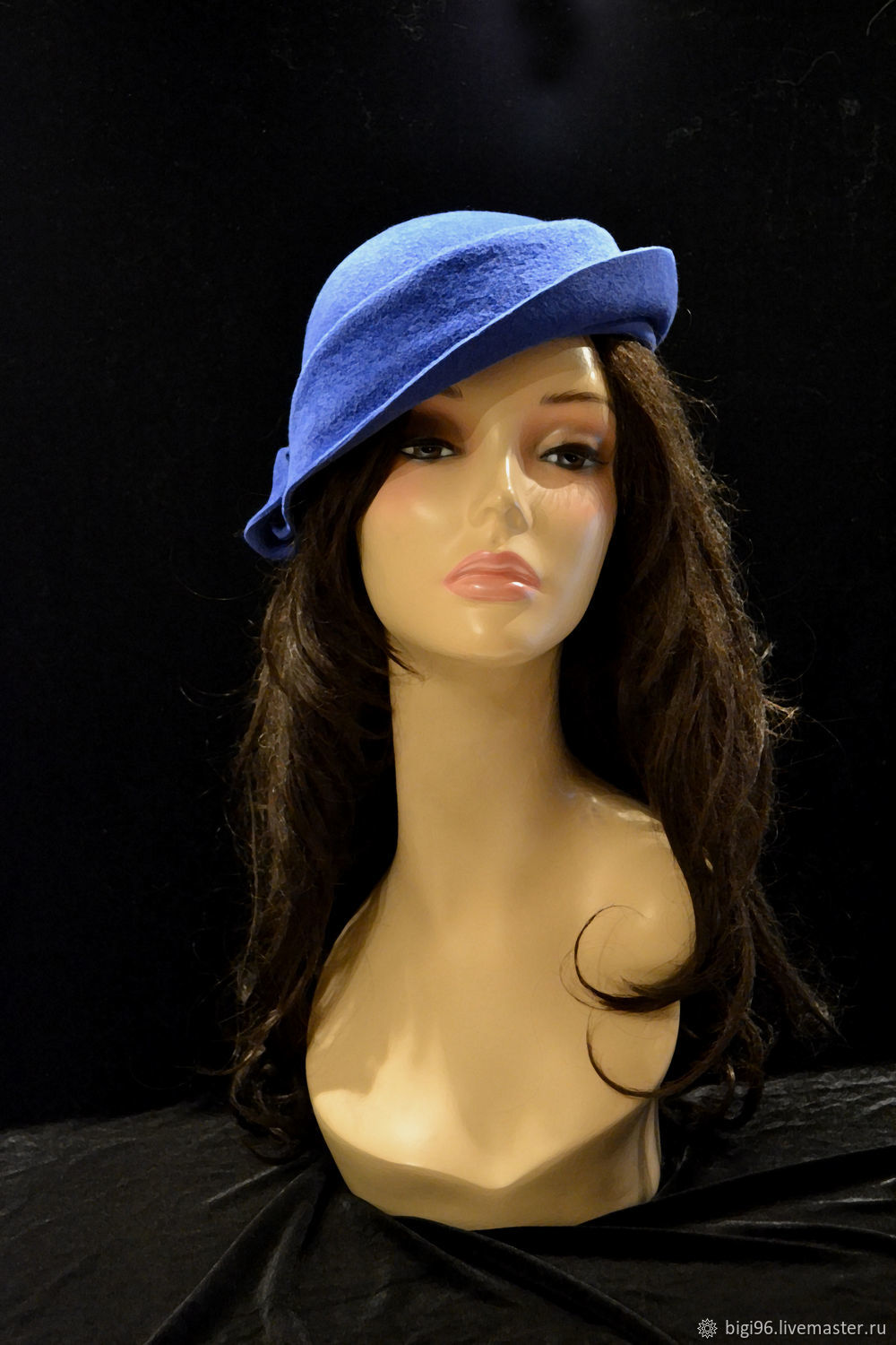 Coquette ' Royal blue', Hats1, Moscow,  Фото №1