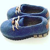"""Обувь ручной работы. Ярмарка Мастеров - ручная работа Валяные  туфельки """" Сникерсы """". Handmade."""