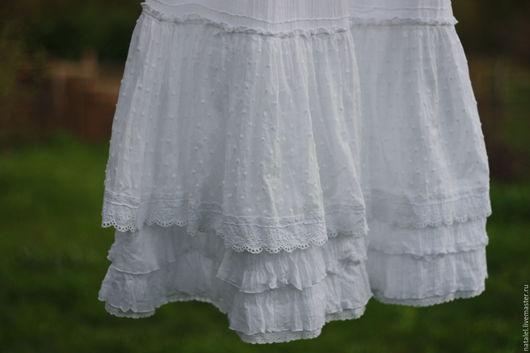Юбки ручной работы. Ярмарка Мастеров - ручная работа. Купить Нижняя белая юбка, для БОХО ансамблей. Handmade. Белый