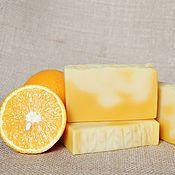 """Косметика ручной работы. Ярмарка Мастеров - ручная работа """"Апельсин и облепиха"""" натуральное мыло с нуля. Handmade."""