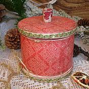 Для дома и интерьера ручной работы. Ярмарка Мастеров - ручная работа Новогодняя баночка для сладостей или специй. Handmade.
