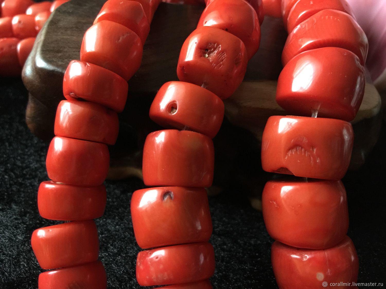 Бусина 15-21 мм Коралл-срез  (25), коралл, Бусины, Обнинск,  Фото №1
