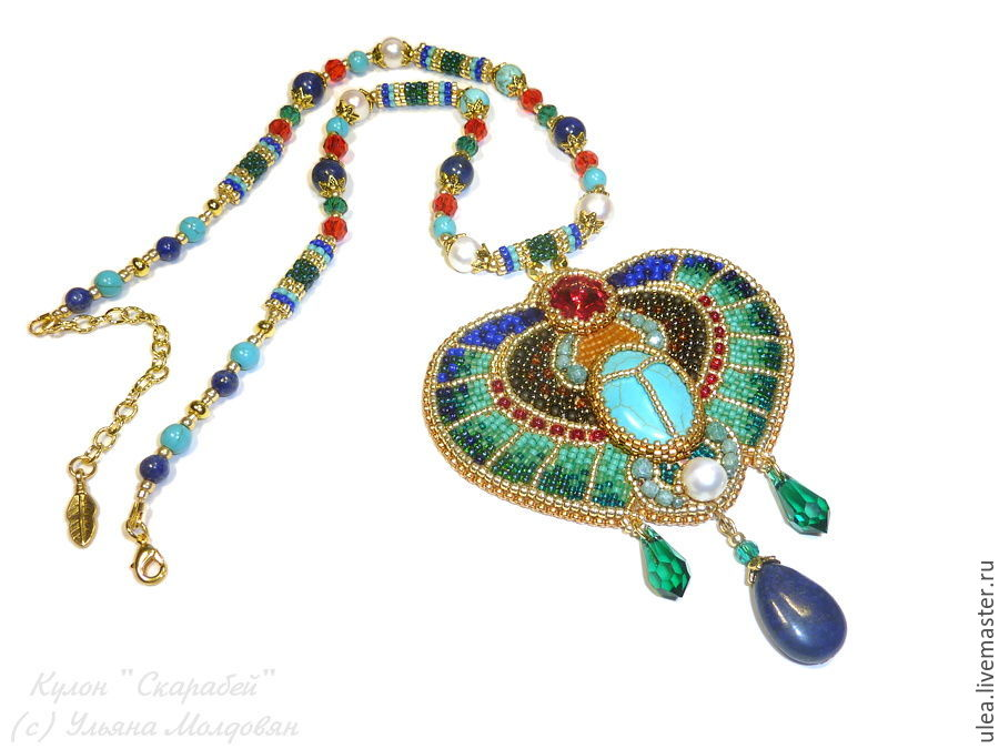Of egypt pendant scarab beetle shop online on livemaster with egypt pendant bead scarab pendant in the egyptian style designer jewelry ulyana moldovyan aloadofball Choice Image