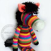 Куклы и игрушки handmade. Livemaster - original item Rainbow Zebra toy (60 cm). Handmade.