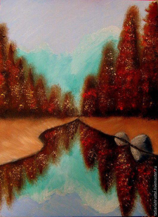 Пейзаж ручной работы. Ярмарка Мастеров - ручная работа. Купить Осенний лес. Холст, масло, 30х40. Handmade. Рыжий