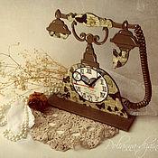 Для дома и интерьера ручной работы. Ярмарка Мастеров - ручная работа Настольные часы ,,Ретро-телефон,,. Handmade.