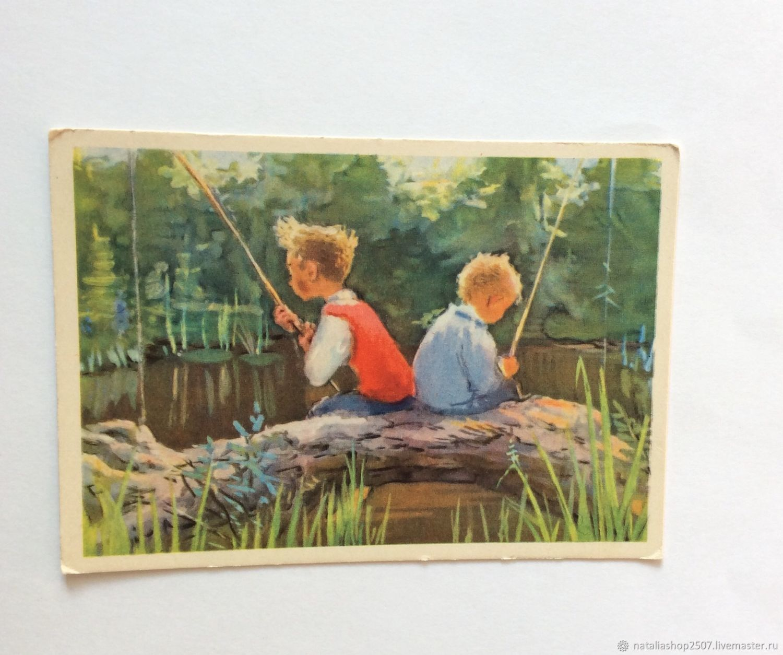Для любимой, открытки живопись 1955 года цена