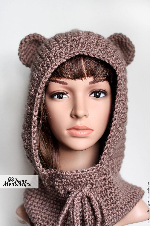 шапка капюшон из текстиля