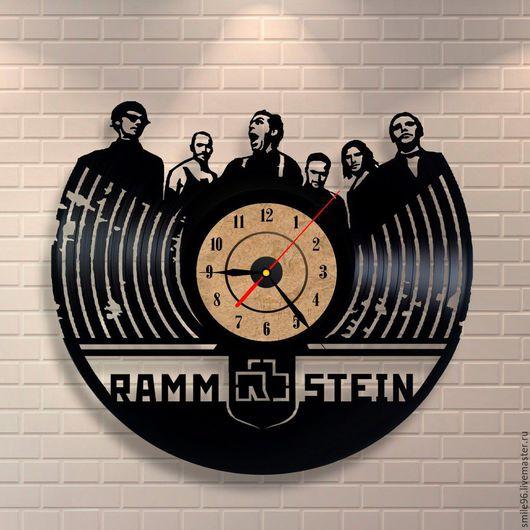 "Часы для дома ручной работы. Ярмарка Мастеров - ручная работа. Купить Часы из пластинки ""Rammstein"". Handmade. Rammstein, часы"