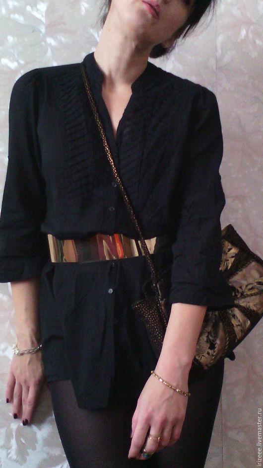 Блузки ручной работы. Ярмарка Мастеров - ручная работа. Купить блузка черная батистовая Noir. Handmade. Черный, офисная блузка