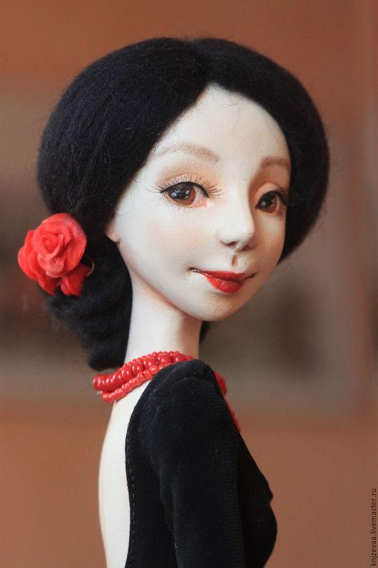 Коллекционные куклы ручной работы. Ярмарка Мастеров - ручная работа. Купить Кармен. Handmade. Черный, сердце красавицы, бисер чешский