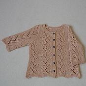 Одежда детская handmade. Livemaster - original item Openwork jacket made of tea rose cotton yarn. Handmade.