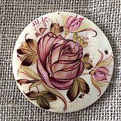 """Украшения ручной работы. Ярмарка Мастеров - ручная работа Копия работы Кулон """"роза гризайль"""" из перламутра. Handmade."""