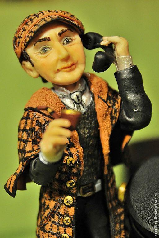 Коллекционные куклы ручной работы. Ярмарка Мастеров - ручная работа. Купить Шерлок Холмс. Handmade. Серебряный, коллекция, театр, фото