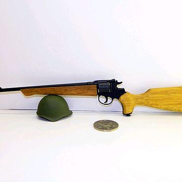 Куклы и игрушки ручной работы. Ярмарка Мастеров - ручная работа Миниатюрное оружие Наган карабин масштаб 1:2,5. Handmade.