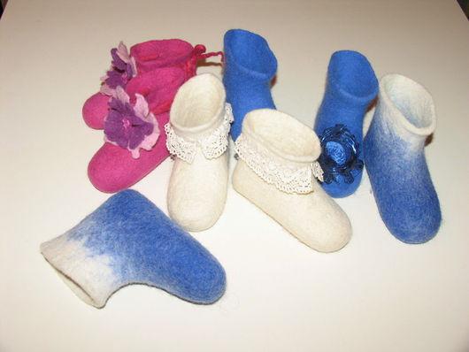 Для новорожденных, ручной работы. Ярмарка Мастеров - ручная работа. Купить пинетки для малолетки. Handmade. Детская обувь, тапочки, пинетки