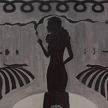 """Картины и панно ручной работы. Ярмарка Мастеров - ручная работа Картина маслом """"Тени. Art noir"""". Handmade."""