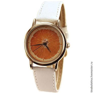 Украшения ручной работы. Ярмарка Мастеров - ручная работа Дизайнерские наручные часы Апельсин. Handmade.
