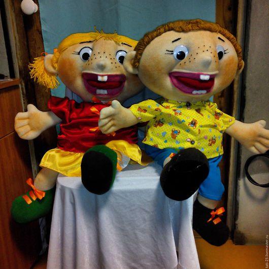 Развивающие игрушки ручной работы. Ярмарка Мастеров - ручная работа. Купить Аня и Ваня. Логопедическая кукла.. Handmade. Комбинированный, флис