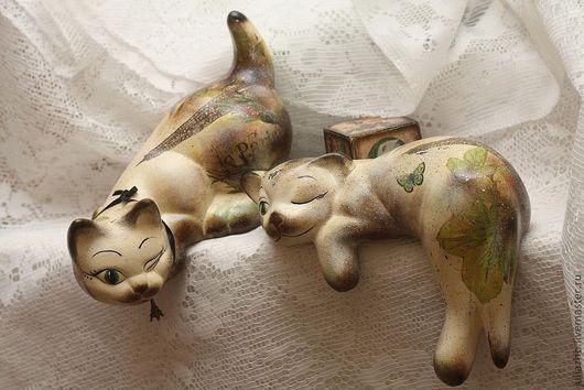 Комплекты аксессуаров ручной работы. Ярмарка Мастеров - ручная работа. Купить Кошки винтажные - «Le Tango du Chat» («Кошачье танго»). Handmade.
