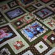 """Для дома и интерьера ручной работы. Ярмарка Мастеров - ручная работа """" МОНПАНСЬЕ""""--2  Лоскутное покрывало с фотографиями. Handmade."""