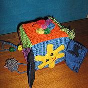 """Куклы и игрушки ручной работы. Ярмарка Мастеров - ручная работа Развивающий кубик """"Солнышко"""". Handmade."""