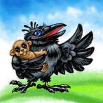 Плюшевая ворона - Ярмарка Мастеров - ручная работа, handmade