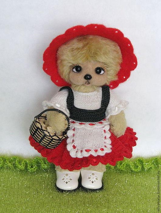 Мишки Тедди ручной работы. Ярмарка Мастеров - ручная работа. Купить Мишка тедди Красная Шапочка. Handmade. Ярко-красный