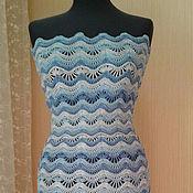 Одежда ручной работы. Ярмарка Мастеров - ручная работа Ажурное голубое платье. Handmade.