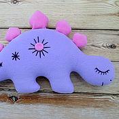 Мягкие игрушки ручной работы. Ярмарка Мастеров - ручная работа Динозаврик-сплюшка (большой). Handmade.