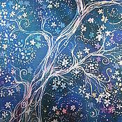 """Картины и панно ручной работы. Ярмарка Мастеров - ручная работа Картина батик """"Дерево снов"""". Handmade."""