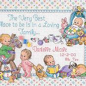 """Для дома и интерьера ручной работы. Ярмарка Мастеров - ручная работа Детская метрика """"Любящая семья"""". Handmade."""