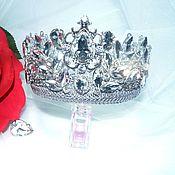 Украшения handmade. Livemaster - original item Crown large white. Handmade.