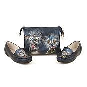Обувь ручной работы handmade. Livemaster - original item Set of leather bag and moccasins