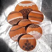 """Посуда ручной работы. Ярмарка Мастеров - ручная работа """"Лето в деревне"""", набор десертных тарелок. Handmade."""