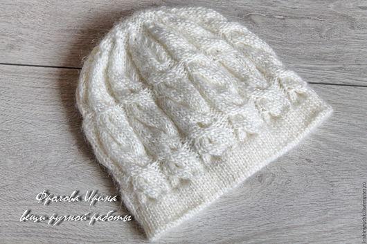 """Шапки ручной работы. Ярмарка Мастеров - ручная работа. Купить Шапочка """"Зимняя белая"""". Handmade. Белый, шапка, шапка вязаная"""