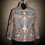 Одежда ручной работы. Ярмарка Мастеров - ручная работа Синельная куртка из ПП платка Тайна Сердца. Handmade.
