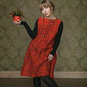 """Одежда ручной работы. Ярмарка Мастеров - ручная работа Платье """"Брусничный твид"""" войлок. Handmade."""