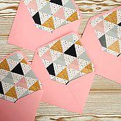 Подарочные конверты ручной работы. Ярмарка Мастеров - ручная работа Конверт РОЗОВЫЙ из дизайнерской бумаги. Handmade.
