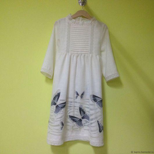 Одежда для девочек, ручной работы. Ярмарка Мастеров - ручная работа. Купить Платье с бабочками. Handmade. Комбинированный, Платье нарядное