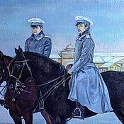 Картины и панно handmade. Livemaster - original item Oil painting on canvas St. Petersburg winter. Handmade.
