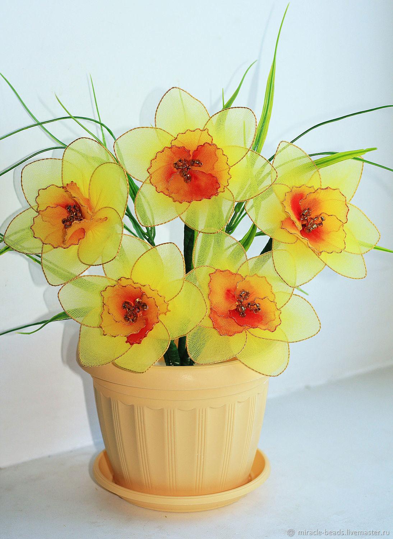 "Цветы из капрона ""Нарциссы"", Цветы, Чебоксары,  Фото №1"