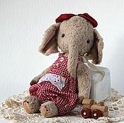 Куклы и игрушки ручной работы. Ярмарка Мастеров - ручная работа Слоник Тедди Пуся - маленький друг Мишки Тедди. Handmade.