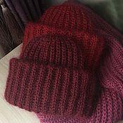 Аксессуары ручной работы. Ярмарка Мастеров - ручная работа Мохеровая шапка, шапка в стиле Takori. Handmade.
